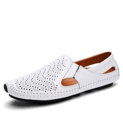Men Loafers Patent Leather Flat Driving Shoes Solid Spring Autumm Soft  Slip on Shose