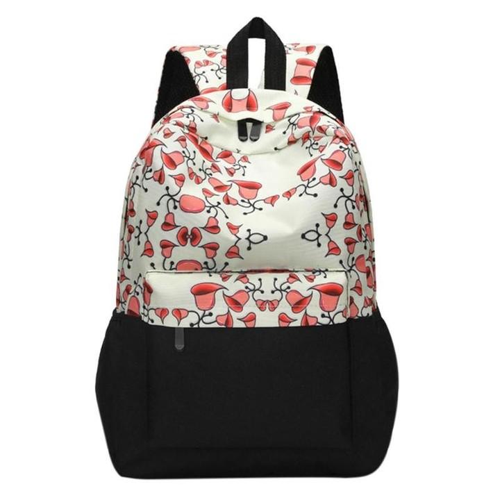 Women Ethnic Print Backpacks Teenage Girl Flower Print Bookbag 600D Travel  Casual Shoulder School 00a1ef6b6f69a