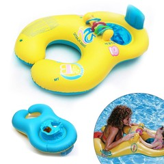 Boat Circle For Swimming Pool Accessories Inflatable Ring Mother Child Kids Bathing Inflating Bou