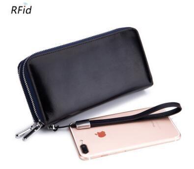 1380a1f2b136 Kilimall  New Double Zipper women Clutch Bags High Quality Genuine ...