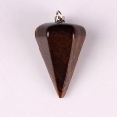 Natural Semi Precious Stones Quartz Carved Pendulum Pendants Reiki Healing Crystals Diy Jewelry M
