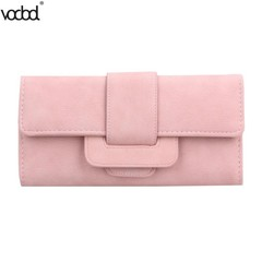 PU Leather Women Card Holder Long Wallet High Quality Girls Purse Coin Card Holder Female Elegant
