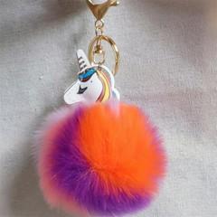 double-sided colorful Tianma beast Plush toys keychain ladies car bag keychain Christmas birthday