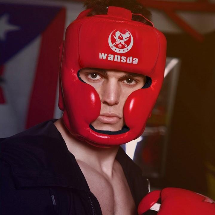 Size 3 Colors Adult Kids Men Women Boxing Helmet Headgear Head Gear Closed Type Training Sanda He