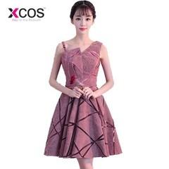 Elegant Pink Short Graduation Dresses One Shoulder Girls Red Royal Blue Mini Homecoming Dress Par 2 Red