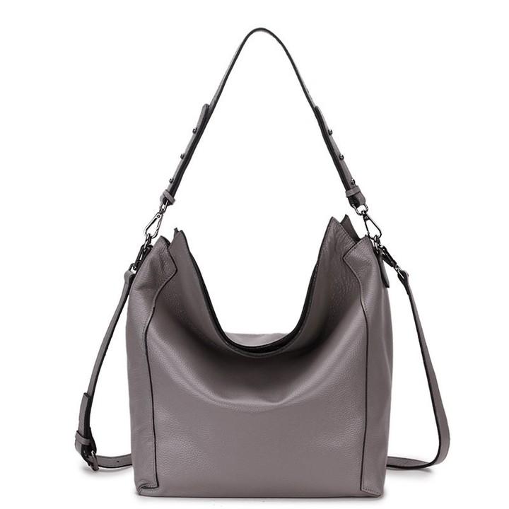 62f87acf5cd3 Bag Ladies Genuine Leather Shoulder Bag Hobo Womens Genuine Leather Handbags  Big Female Tote Hand