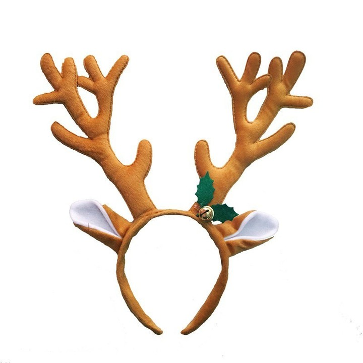 af1a41e3366ac Christmas Headbands with Christmas Bells Cute Elk Reindeer Headbands for  Adults Kids Xmas Party C