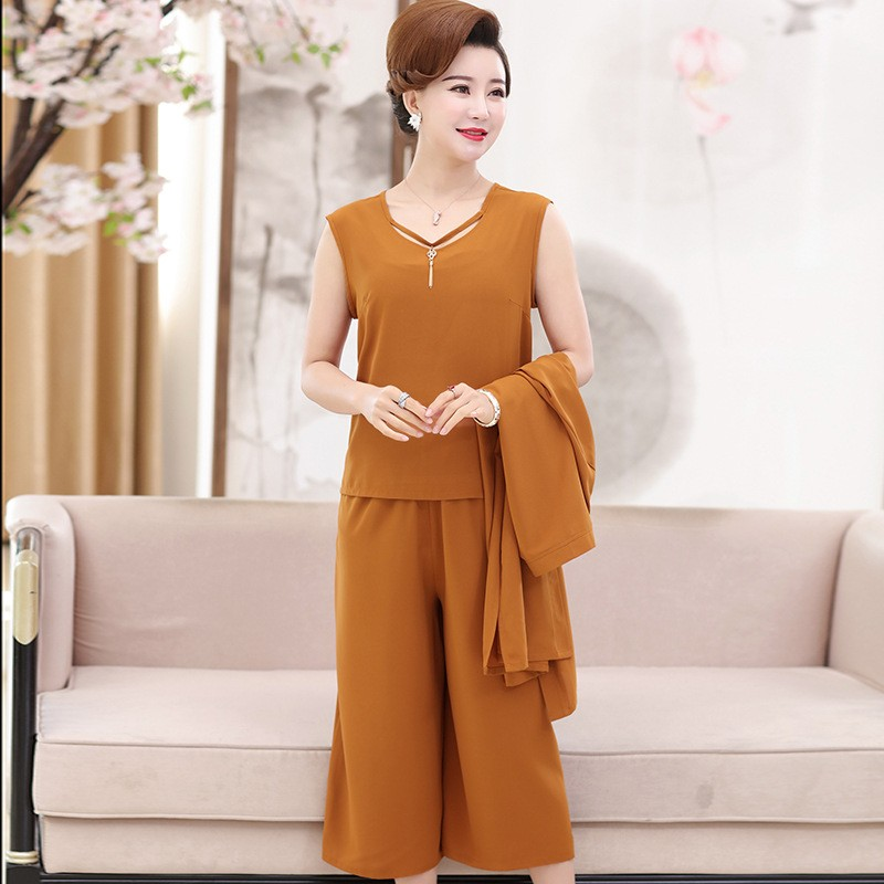 9c16004e3cb Yiiya Mother of the Bride Dresses Plus Size Summer 3 Piece Set 2 Colors  Solid V-Neck Fashion Eleg  Product No  7182040. Item specifics  Seller ...