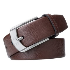 New Like Genuine Leather Belts for Men High Quality Casual Belt for Jeans Pin Buckle Black Brown