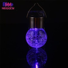 Colour Changing Solar Mosaic Crackle Globes LED Garden Lights 1.2v 200mAh Solar Mosaic Hanging Li