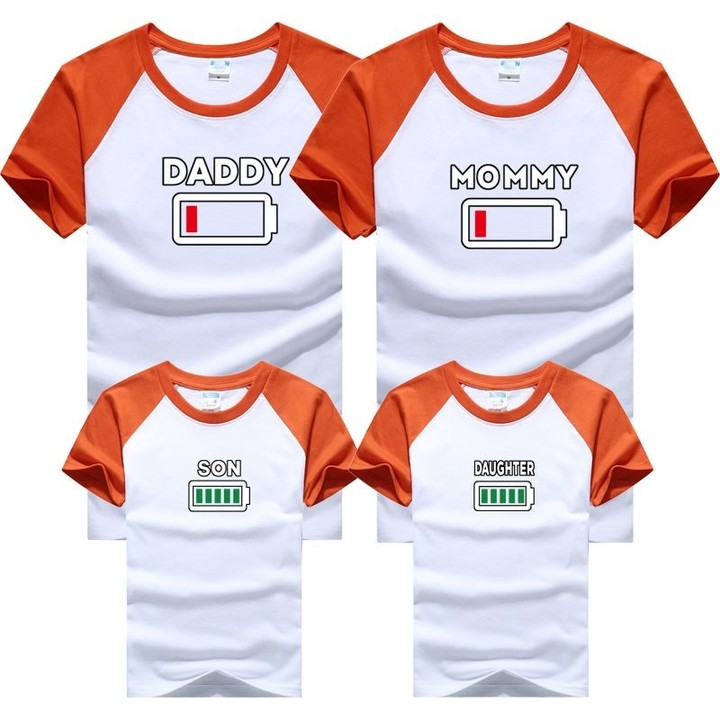 adc5e86b3e53 Family Matching Outfits Father Mother and Daughter Son Clothes Look Cotton  Daddy T shirt Mom Mum