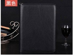 PU Leather Cover A5 Zipper Notebook Spiral Bound Loose-leaf Business Notepad Travel Journal Diary