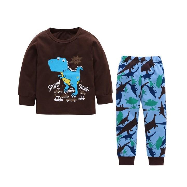ddaabd64baac2 Kids Baby Boy Girl Dinosaur Print Tops+Pants 2-Piece Pajama Outfits Set New  Arrival Dropshipping