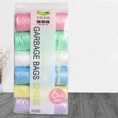 6 Rolls Garbage Bags Thicken Convenient Environmental Cleaning Waste Bag Plastic Trash Bags Hot S