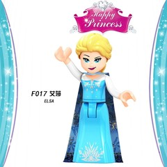 Legoing Friends for Girls Figures Snow White Ice Queen Anna Princess Mermaid beast Building Block