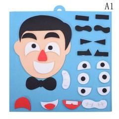 Recognition Training Educational Toys EVA 3D Parents and Kids Five Sense Organs DIY Assembling Pu