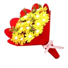 DIY art craft hand bouquets for teachers day/mothers day / Kids handmade toys of button flowers f