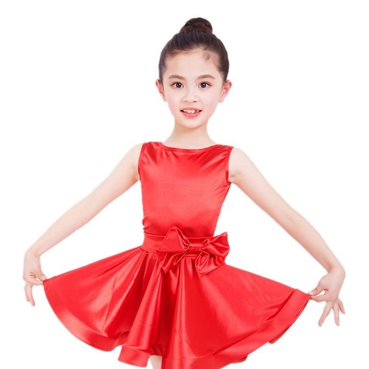 a4c401561 Sleeveless Standard Latin Dance Dress Children Ballroom Dance ...