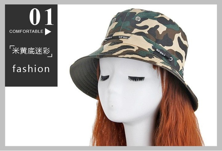 a9531e9dacf Camouflage Fisherman Hat Mens Fishing Hat for Hiking Outdoor Sun Protection  Hat Sunshade Ladies B