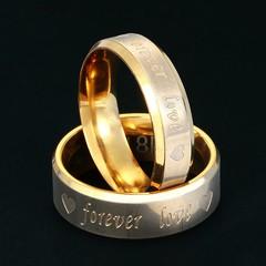 Heart Forever Love Couple Rings Stainless Steel Wedding Band Rings For Lover Engagement Promise J