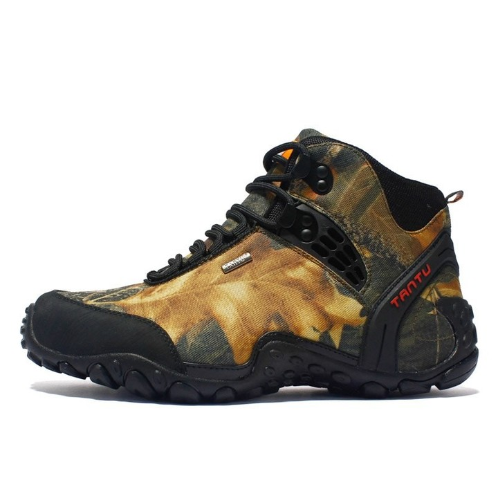 ea8a10a9978 Waterproof Men Hiking shoes Camouflage Hunting Boots Anti-skid Outdoor  Tactical Boots Fishing Cli
