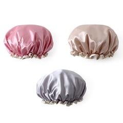 Bath Cap Solid Double-deck Cute Soft Waterproof Mold Resistant Washable Shower Cap