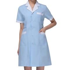 Short Sleeved Lab Coat Pharmacy Doctor Overalls Uniform Nurse Health Coat