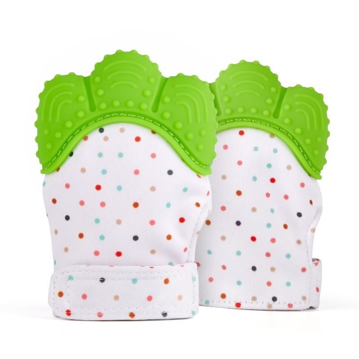Teether Safe Silicone Mitts Teething Mitten baby glove teether Candy Wrapper Sound Teether 1pcs