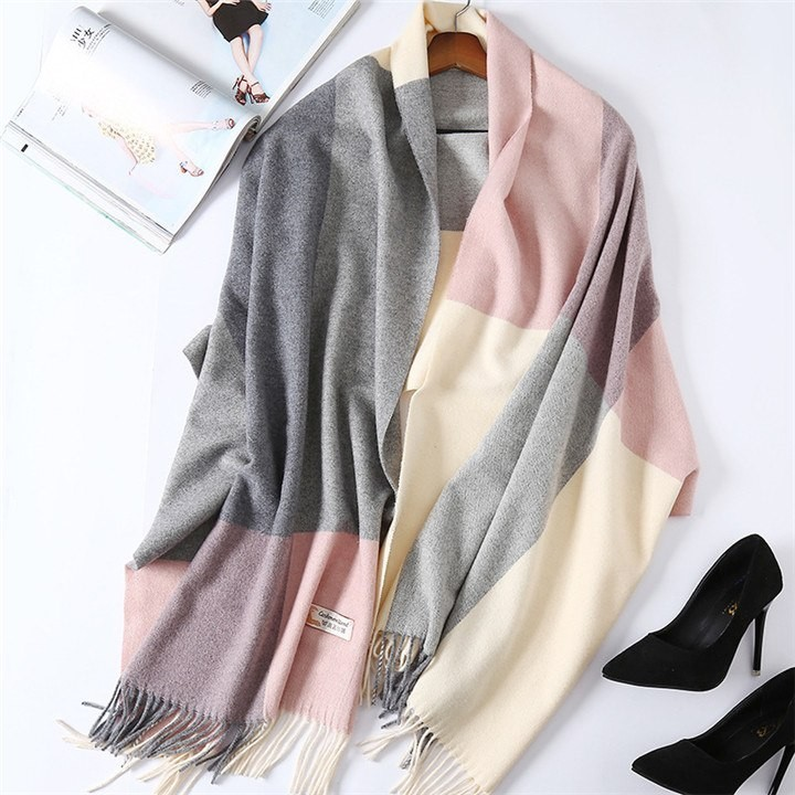 8b41956ea84 Quality European Britsh Style 100% Cashmere Plaid Checks Assorted Colors  Scarf Women Winter Warm