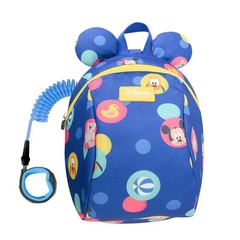 2In1 Toddler Anti Lost Backpack 1.8M Antilost Wrist Link Kids Walking Strap Leashes Bag Mickey Mi