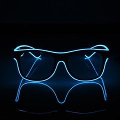 Luminous Glasses EL Wire Fashion Neon LED Glowing Glasses for Dancing Party Bar Meeting Glow Rave
