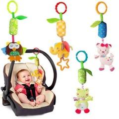 Bell Hanging Bed Infant Baby Boy Girl Multifunctional Plush Toy Car Crib Cartoon Pram Kids Stroll