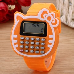 Kitty Cat Childrens Watch Calculator Watch Boy Or Girl Student Learning Wristwatch Arithmetic Too