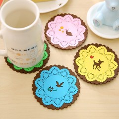Cartoon Animal Coaster Creative Placement for Mugs Cup Table Decoration Kawaii Stationery Office
