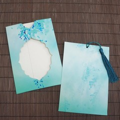 Ancient  beautiful empty  pull-out invitation  greeting Chinese style holiday  gift  small card