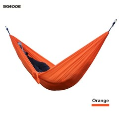 Portable 270x140CM Hammock Camping 210T Nylon Double Hanging Swing Bed Outdoor Hammock Camping