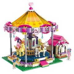 Girls Friends Series Princess Fantasy Carousel Building Blocks Sets Bricks Model Kids Classic Com