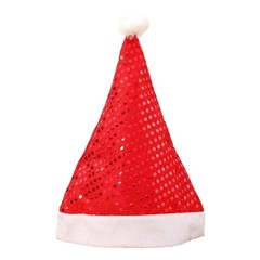 New Sequin Christmas Hat Santa Clause Cap Christmas Hat Xmas Party Supplies Christmas Decoration