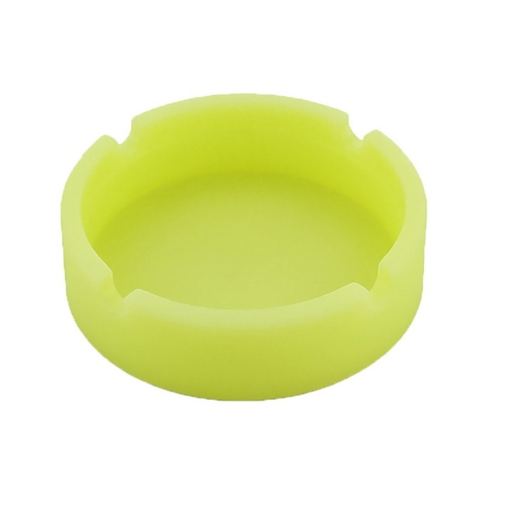 Multicolor Silicone Rubber High Temperature Heat Resistant Round Design Ashtray