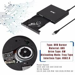 2.0 External CD/DVD ROM Player Optical Drive DVD RW Burner Reader Writer Recorder Portable for La