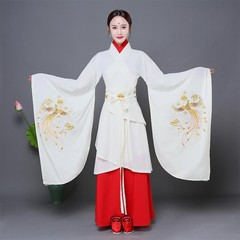 Women Chinese Style Hanfu Clothing Suit Lady Embroidery Floral&ampPhoenix Traditional Dance Perfo