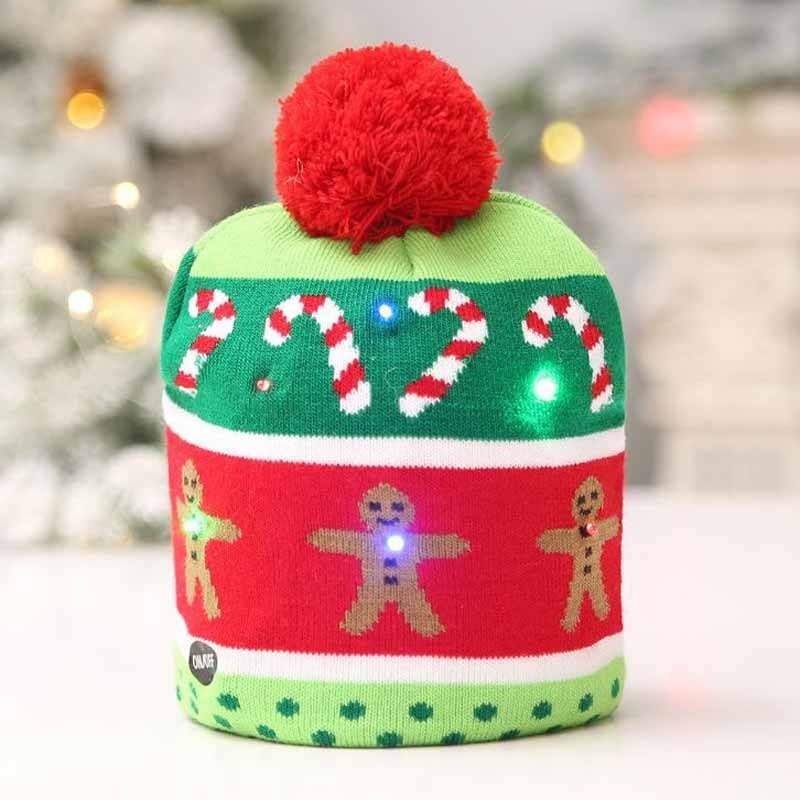 Item specifics  Seller SKU BVYiUXgMMNb  Brand  LED Christmas Kids Hat  Festival Gift Sweater Christmas Tree Beanie Light Up Knitted Hat for Children  Adult ... f36a44a79f49