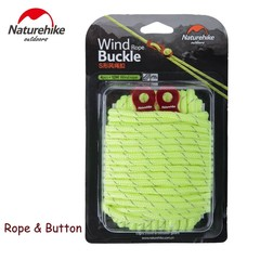 12M Rope And 4pcs/lot Wind Rope Buckle Aluminum Alloy Non-slip Outdoor Tent Rope Adjust Buckle Te
