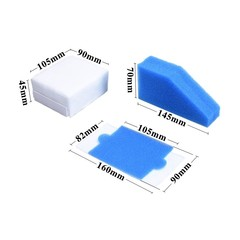 Vacuum Cleaner Foam Filter Parts for Thomas 787241 787 241, 99 Dust Cleaning Filter Replacements