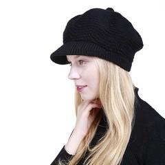 Fashion Solid Warm Crochet Winter Wool Knit Manual Caps Hat 2018 Girl Lady Warm Hat Elegant Casua