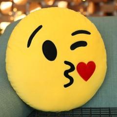Cartoon facial expression Cushion Yellow Head Plush Pillows Cushions Sofa Car Home Decoration Toy