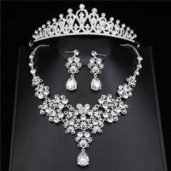 Jewelry Sets Wedding Necklaces Earrings set Women Prom Tiaras and Crowns Wedding Necklaces/Earrin Set 01