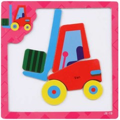 Sale New Baby Education Toy 3D Magnetic Puzzle Toy Cartoon Wooden Jigsaw Tangram 16 style chosen