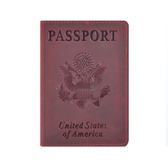 Leather United States Passport Covers, Card Position Holder Protector Vintage Small Planner