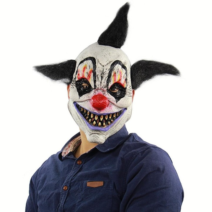 eb0bce361 Unisex Scary Clown Mask Latex Costume Head Mask for Halloween Party Prop